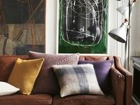 Tan Sofa On Pinterest Contemporary Decor Dark Brown