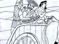 Ethiopian eunuch on pinterest for Ethiopian eunuch coloring page