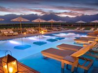 The Vines Resort & Spa / Surrounded by 1,500 acres of Private Vineyards, The Vines Resort & Spa blends rustic elegance with modern comfort and features spacious private Villas, world-class service, and breathtaking landscapes.