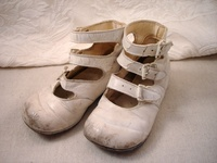 Baby shoes...the older the better...I just love them all!!!