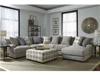 "Barton Sectional Room Setup / Start with our Best Seller ""Barton"" Sectional by Franklin and find ideas to finish off the perfect room!"