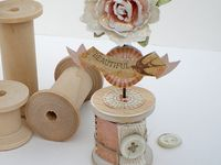 Lovely items made with cotton spools and cotton reels.