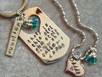 Please check out my shop Heavensfeathers@etsy.com for more custom, hand stamped jewelry.