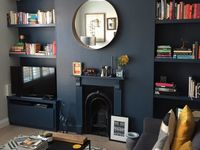Dark living room