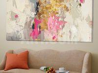 auf Leinwand Wandbild Poster Bilder Splendid Abstraktes Werk