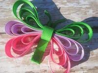 Ribbon sculpture bows