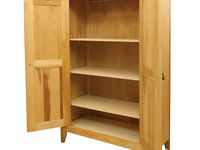 Catskill Craftsmen Natural Wood Storage Cabinet 7230 The Home Depot Wood Storage Cabinets Double Door Storage Cabinet Door Storage