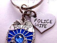 St Michael Police Officer Visor Clip Blue Enamel with Prayer McVan