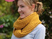 knit infinity scarf on loom