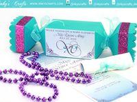 BOXED INVITES+GIFT FAVOR BOX/ CREATIVE INVITATIONS / CREATIVE INVITES , HANDMADE INVITES, BOX INVITES, UNIQUE GIFT FAVORS