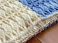 Crochet baby blanket 'Shell stitch'