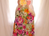 Up-cycled, shabby, recycled clothing