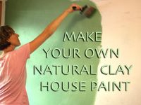 Natural Earth Paint Make Your Own Natural Clay House Paint Natural Earth Paint Clay Houses House Painting Earth Bag Homes