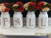 Mason Jars - Fall
