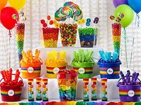 Candy Sweet buffet ideas for kids birthday parties
