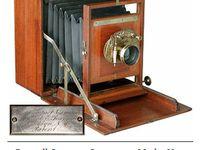 Houten antieke cameras / Fototoestellen van rond en voor 1900