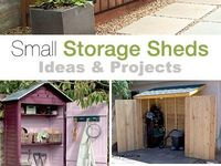 GARDEN/STORAGE SHEDS TOOLS, & COLLECTING SEEDS