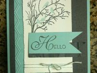 Paper crafting items using Stampin Up's Serene Silhouette stamps