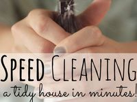 Helpful hints to make life easier while keeping a clean house