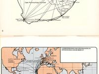 Classic Airline Route maps / Airline route maps of days gone by