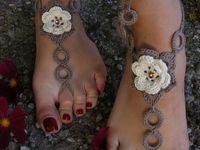 Crochet BareFoot Sandles