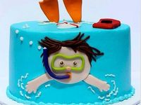 Pool party cakes