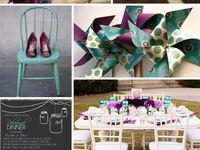 weddings - purple teal
