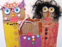 paper sack crafts for kids to make
