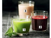 Juice, smoothie and drinks