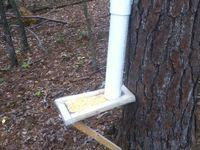 Deer feeder on pinterest wood frames pvc pipes for Homemade deer feeders pvc pipe