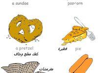 من كل بستان وردة تعليم أسماء الوجبات السريعة فى اللغة الإنجليزية بالصور Snacks Sundae Popsicles Pretzel