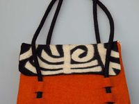 Bags, Etc:  Felted Purses, Clothing, and Wall-Hangings