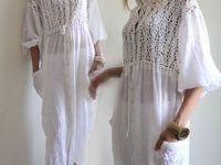 Ткань + вязание , кружево ...