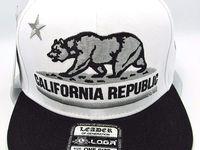 Wynn New 1954 California Republic Cali Youth Kids Red Black Era Snapback Hat Cap
