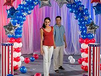 45 Red White Blue Ideas Balloons Balloon Decorations Blue Balloons