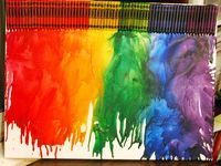 ArtEd- Melted crayons