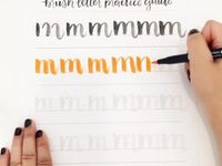 Hand lettering, Calligraphy letters and Creative lettering