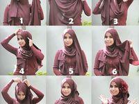 cara pakai hijab