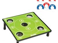 Try to get the washers in the hole or at least within the wooden sides with this unique new game of Washer Toss. Similar to bean bag toss, the goal is to get the washers into the center of the board to get the most points possible. - See more at: http://franklinsports.com