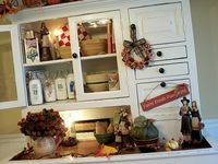 fall primitve decoration and crafts