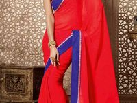 Latest Indian Sarees - Diff-28329 / Latest Indian Sarees with Embroidery