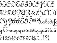 typefaces - fancy