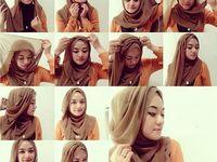 ... Hijab styles on Pinterest | Hijab tutorial, Hijabs and Hijab styles