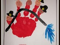 school handprints/feet