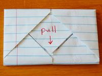 It was pretty cool that we didn't just hand these letters to each other willy nilly, we found creative ways to fold them up. Here's one of those ways. Learn how to fold a letter into a pull tab note!