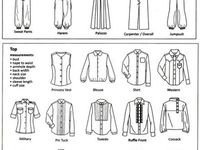 clothing sewing etc terminology on pinterest fashion