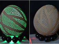 carved eggs (z) / Eggs carved/drilled by @zira dias