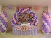 Sofia the first birthday party for my baby's sis 1st birthday♡♡♡