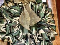 camo wreath and decor