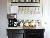 Ah, Coffee... the elixir of life! I hope you will find inspiration to set up an inviting coffee station for yourself and guests.